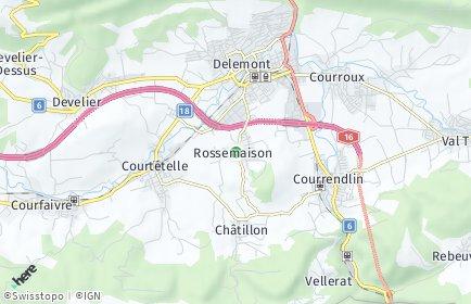 Stadtplan Rossemaison