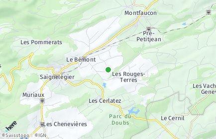 Stadtplan Le Bémont (JU)