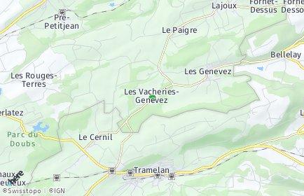 Stadtplan Les Genevez (JU)