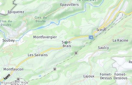 Stadtplan Saint-Brais