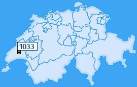 PLZ 1033 Schweiz