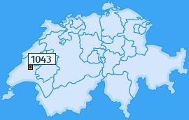 PLZ 1043 Schweiz