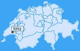 PLZ 1092 Schweiz