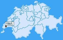 PLZ 1165 Schweiz