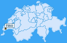 PLZ 1180 Schweiz