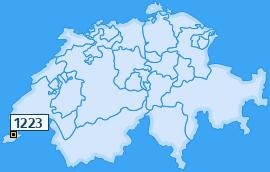 PLZ 1223 Schweiz