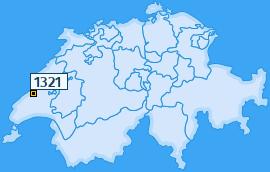 PLZ 1321 Schweiz