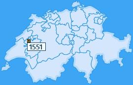 PLZ 1551 Schweiz