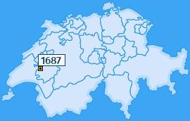 PLZ 1687 Schweiz