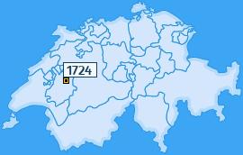 PLZ 1724 Schweiz