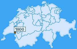 PLZ 1800 Schweiz