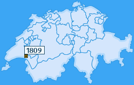 PLZ 1809 Schweiz