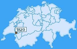 PLZ 1820 Schweiz