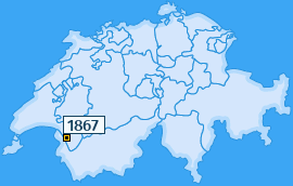 PLZ 1867 Schweiz