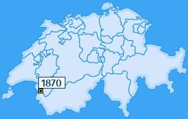 PLZ 1870 Schweiz