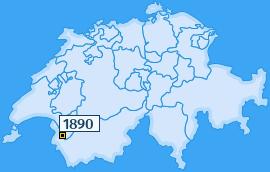 PLZ 1890 Schweiz