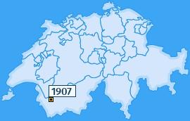 PLZ 1907 Schweiz