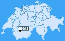 PLZ 1965 Schweiz