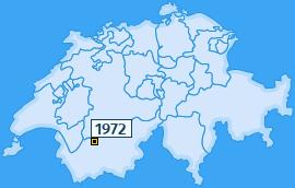 PLZ 1972 Schweiz
