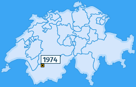 PLZ 1974 Schweiz