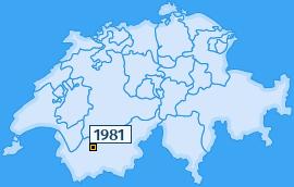 PLZ 1981 Schweiz