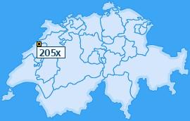 PLZ 205 Schweiz