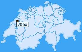 PLZ 206 Schweiz