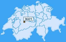 PLZ 3601 Schweiz
