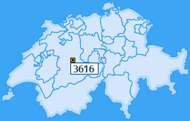 PLZ 3616 Schweiz