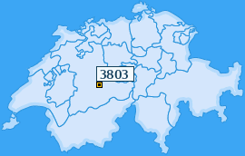 PLZ 3803 Schweiz