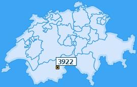 PLZ 3922 Schweiz