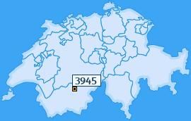 PLZ 3945 Schweiz