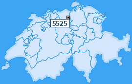 PLZ 5525 Schweiz