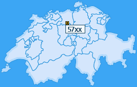PLZ 57 Schweiz