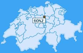 PLZ 6042 Schweiz
