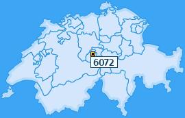PLZ 6072 Schweiz