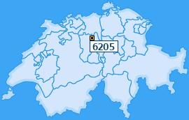 PLZ 6205 Schweiz