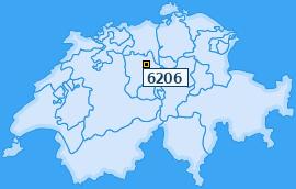 PLZ 6206 Schweiz