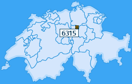 PLZ 6315 Schweiz
