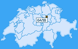 PLZ 6418 Schweiz