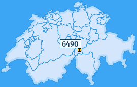 PLZ 6490 Schweiz