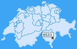 PLZ 6533 Schweiz