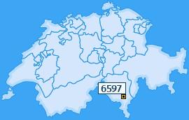 PLZ 6597 Schweiz