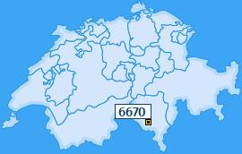 PLZ 6670 Schweiz