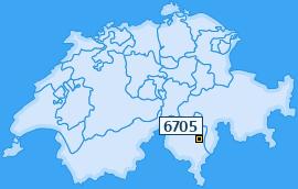 PLZ 6705 Schweiz