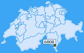 PLZ 6808 Schweiz