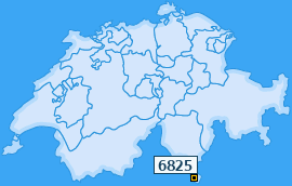 PLZ 6825 Schweiz