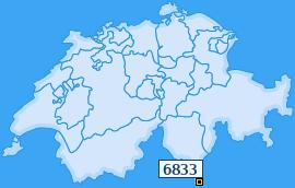 PLZ 6833 Schweiz