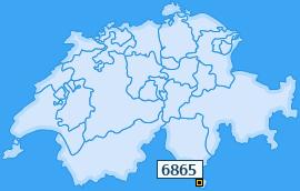 PLZ 6865 Schweiz