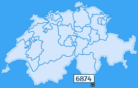 PLZ 6874 Schweiz